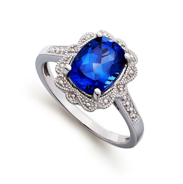 blue gem engagement ring knowzzle